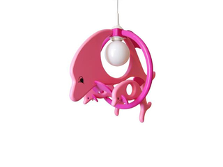 Lampa sufitowa dziecięca Delfin 1 duży 2 mały 020304 fioletowo-różowa Klik