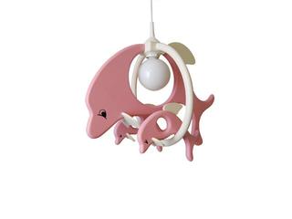 Lampa sufitowa dziecięca Delfin 1 duży 2mały 020305 różowo-biała Klik