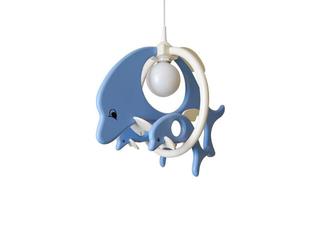 Lampa sufitowa dziecięca Delfin 1 duży 2mały 020306 niebiesko-biała Klik