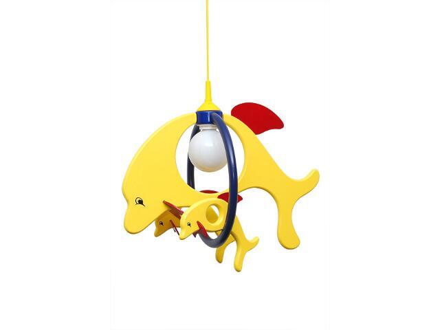 Lampa sufitowa dziecięca Delfin 1 duży 2 mały 020308 żółto-granatowa Klik