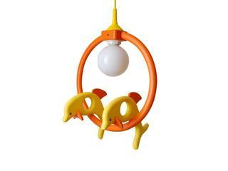 Lampa sufitowa dziecięca Delfin 2 małe 020401 pomarańczowo-żółta Klik
