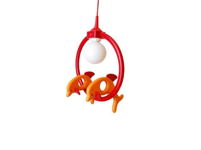 Lampa sufitowa dziecięca Delfin 2 małe 020402 czerwono-pomarańczowa Klik