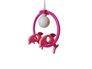 Lampa sufitowa dziecięca Delfin 2 małe 020404 różowo-fioletowa Klik