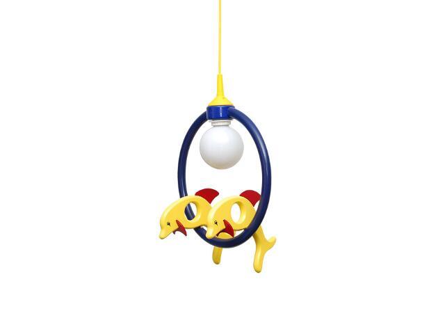 Lampa sufitowa dziecięca Delfin 2 małe 020407 żółto-granatowa Klik