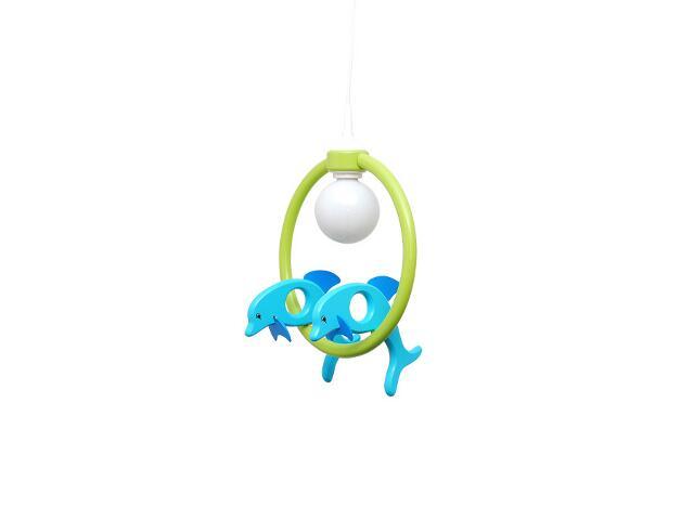 Lampa sufitowa dziecięca Delfin 2 małe 020408 turkusowo-zielona Klik