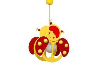 Lampa sufitowa dziecięca Biedronka 020505 żółto-czerwona Klik