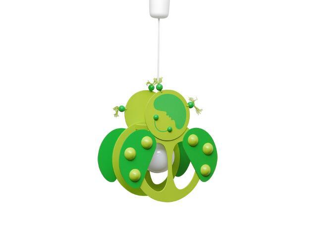 Lampa sufitowa dziecięca Biedronka 020507 zielona Klik