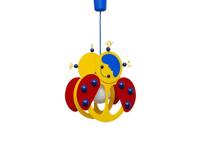 Lampa sufitowa dziecięca Biedronka 020512 żółto-czerwona Klik
