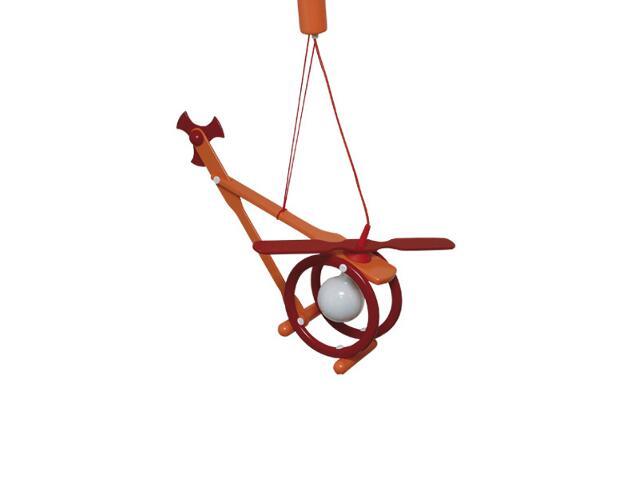 Lampa sufitowa dziecięca Helikopter E27 020604 czerwono-pomarańczowa Klik