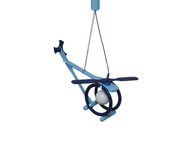 Lampa sufitowa dziecięca Helikopter E27 020605 niebieska Klik