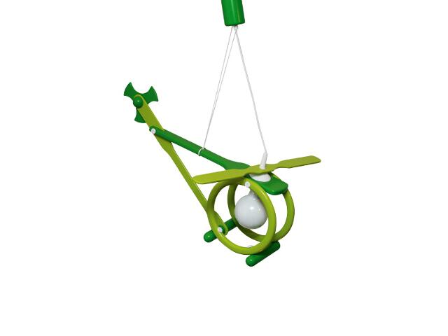 Lampa sufitowa dziecięca Helikopter E27 020606 zielona Klik