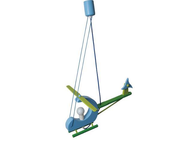 Lampa sufitowa dziecięca Helikopter E14 040102 zielono-niebieska Klik
