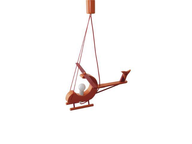 Lampa sufitowa dziecięca Helikopter E14 040104 pomarańczowo-czerwona Klik