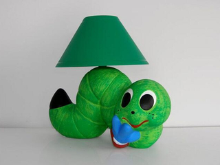 Lampa dziecięca stojąca GLISTA zielona 5431 Cleoni