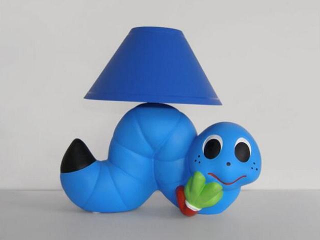 Lampa dziecięca stojąca GLISTA niebieska 5432 Cleoni