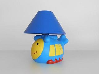 Lampa dziecięca stojąca HELIKOPTER niebieski abażur 5447 Cleoni