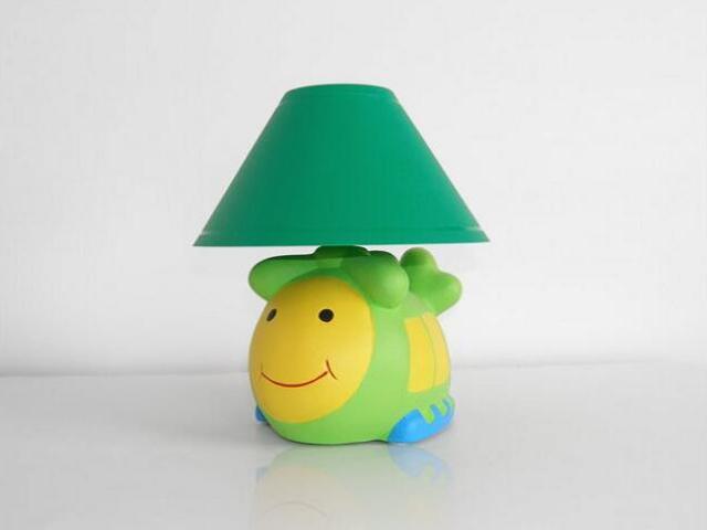 Lampa dziecięca stojąca HELIKOPTER zielony abażur 5448 Cleoni