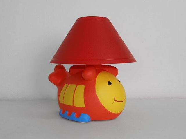 Lampa dziecięca stojąca HELIKOPTER abażur czerwony 5449 Cleoni