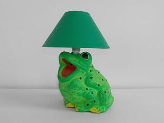 Lampa dziecięca stojąca ŻABA zielona 5453 Cleoni