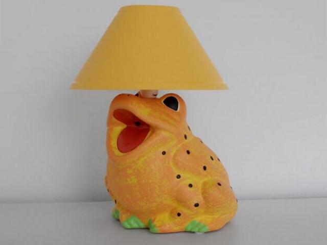 Lampa dziecięca stojąca ŻABA pomarańczowa 5454 Cleoni