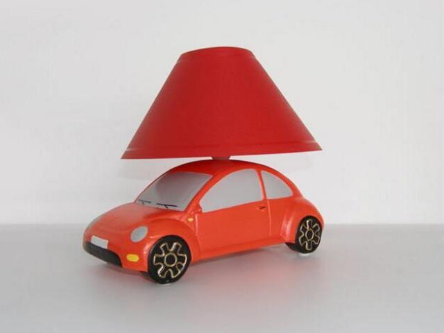 Lampa dziecięca stojąca AUTO czerwone 5456 Cleoni