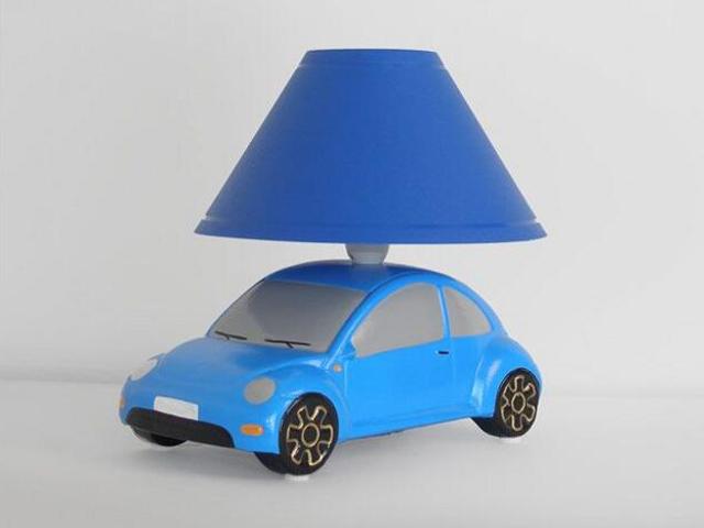 Lampa dziecięca stojąca AUTO niebieskie 5457 Cleoni