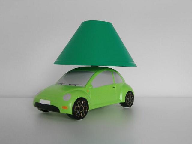 Lampa dziecięca stojąca AUTO zielone 5458 Cleoni