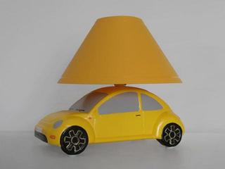 Lampa dziecięca stojąca AUTO żółte 5459 Cleoni