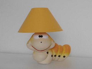 Lampa dziecięca stojąca ROBAL pomarańczowy 5466 Cleoni