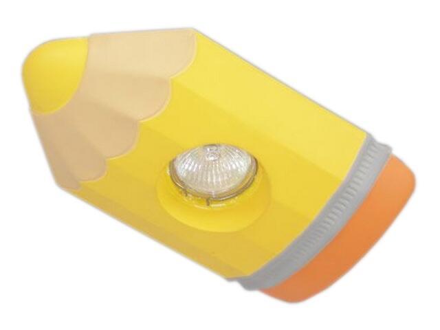 Oprawa punktowa dziecięca KREDKA żółta oczko stropowe 5352 Cleoni