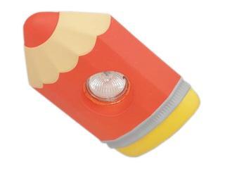 Oprawa punktowa dziecięca KREDKA czerwona oczko stropowe 5354 Cleoni