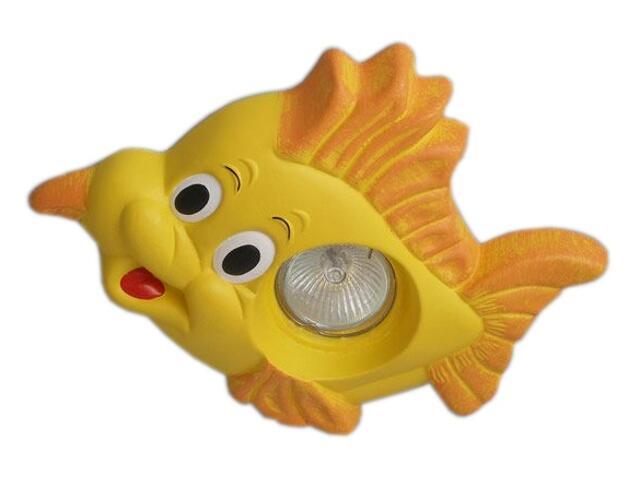 Oprawa punktowa dziecięca RYBKA żółta oczko stropowe halogenowa 5361 Cleoni