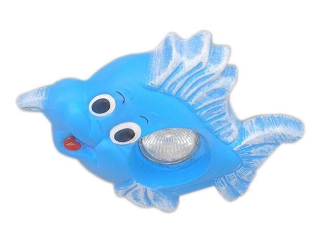 Oprawa punktowa dziecięca RYBKA niebieska oczko stropowe halogenowa 5365 Cleoni