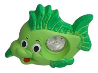 Oprawa punktowa dziecięca RYBKA zielona oczko stropowe 5366 Cleoni