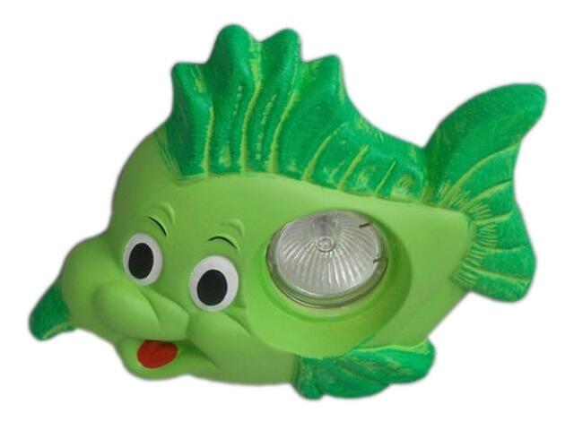 Oprawa punktowa dziecięca RYBKA zielona oczko stropowe halogenowa 5367 Cleoni