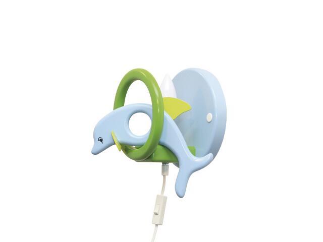 Kinkiet dziecięcy Delfin 0403.03 niebiesko-zielony Klik
