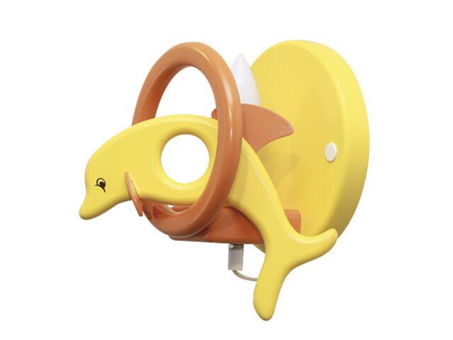 Kinkiet dziecięcy Delfin 0402.01 żółto-pomarańczowy Klik