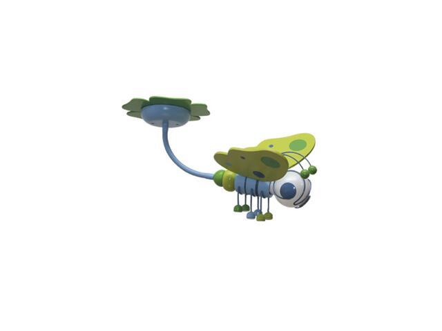 Plafon dziecięcy Motyl 0304.01 zielono-niebieski Klik