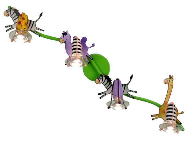 Plafon dziecięcy Zoo 4xE14 R39 40W 50010-4 Reality