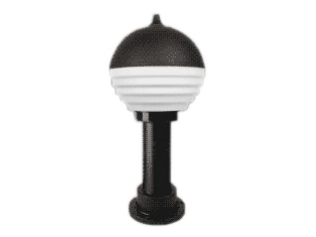 Lampa ogrodowa stojąca VIATO 40 z mlecznym kloszem czarna Brilum