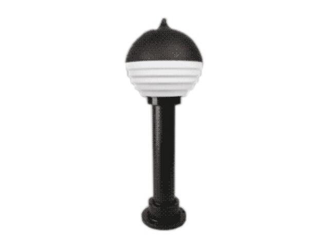 Lampa ogrodowa stojąca VIATO 65 z przeźroczystym kloszem czarna Brilum
