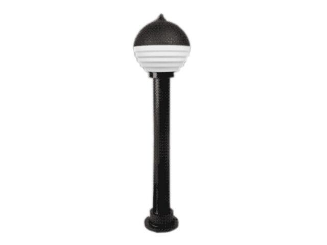 Lampa ogrodowa stojąca VIATO 125 z mlecznym kloszem czarna Brilum