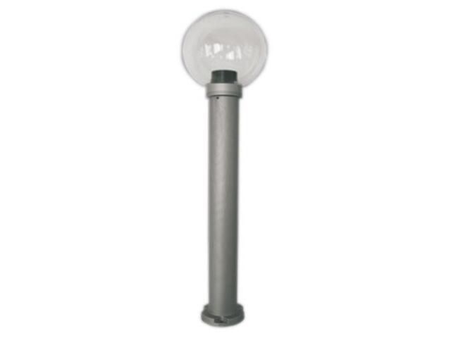 Lampa ogrodowa stojąca ASTER PLUS 600 60W klosz bezbarwny 200mm gwint srebrny Sanneli Design