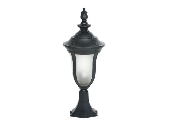 Lampa ogrodowa stojąca FUKSJA SM 100W 1xE27 czarna Sanneli Design
