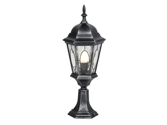 Lampa ogrodowa stojąca mała Kroton SM 100W 1xE27 srebro antyczne Sanneli Design
