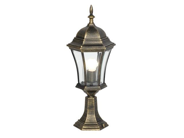 Lampa ogrodowa stojąca mała Hortensja SM 100W 1xE27złoto antyczne Sanneli Design