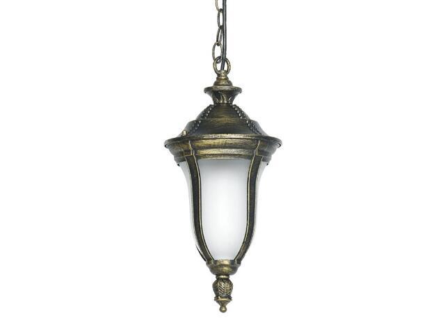 Lampa ogrodowa wisząca FUKSJA W 100W 1xE27 złoto antyczne Sanneli Design