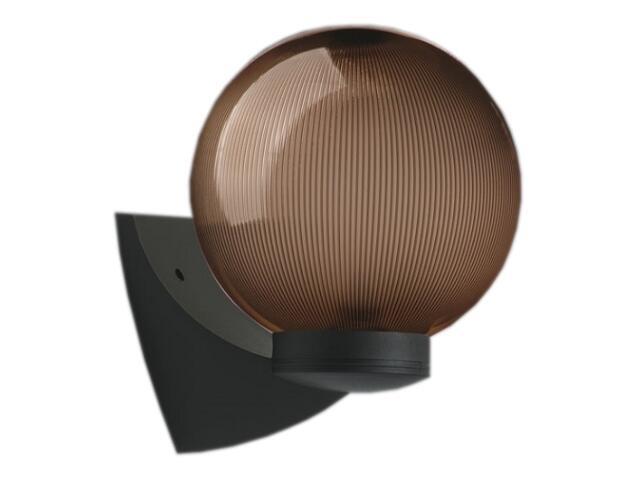 Kinkiet ogrodowy ASTER PLUS 60W E27 klosz pryzmatyczny 20cm czarny Sanneli Design