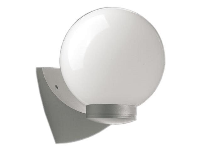 Kinkiet ogrodowy ASTER PLUS 60W E27 klosz mleczny 20cm srebrny Sanneli Design