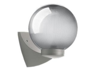 Kinkiet ogrodowy ASTER PLUS 60W E27 klosz pryzmatyczny 20cm srebrny Sanneli Design